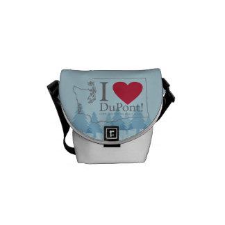 I Love DuPont, WA messenger bag