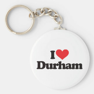I Love Durham Basic Round Button Key Ring