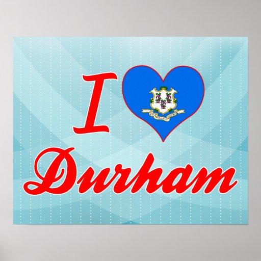 I Love Durham, Connecticut Poster