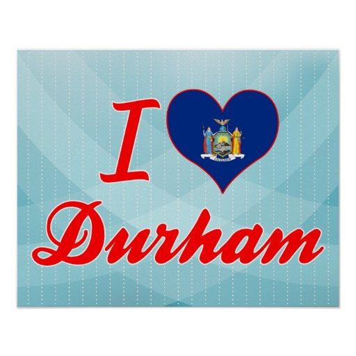 I Love Durham, New York Print