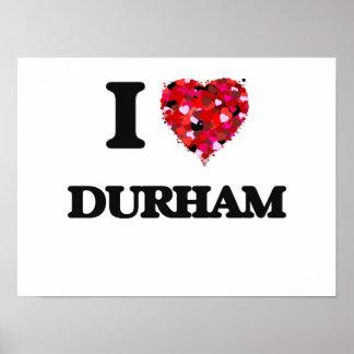 I love Durham North Carolina Poster