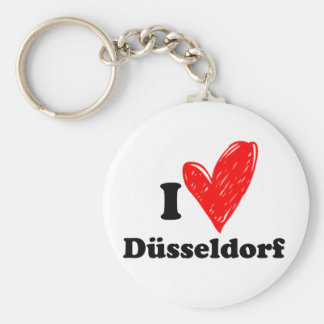 I love Düsseldorf Basic Round Button Key Ring