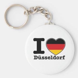I love Dusseldorf Basic Round Button Key Ring