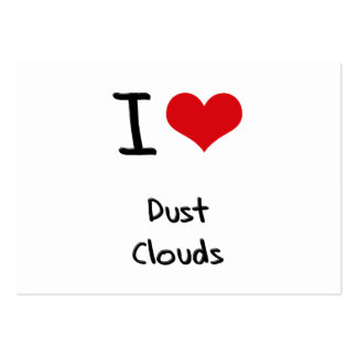 I Love Dust Clouds Business Card Template