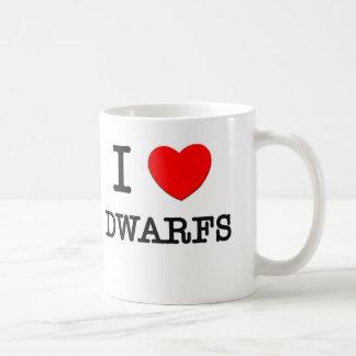 I Love Dwarfs Basic White Mug