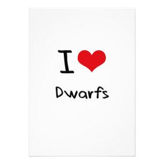 I Love Dwarfs Personalized Invitations