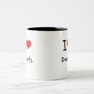 I Love Dwarfs Two-Tone Coffee Mug