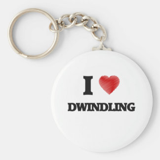 I love Dwindling Basic Round Button Key Ring