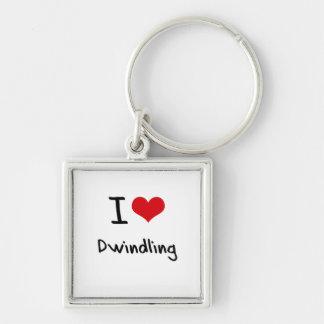 I Love Dwindling Key Chain
