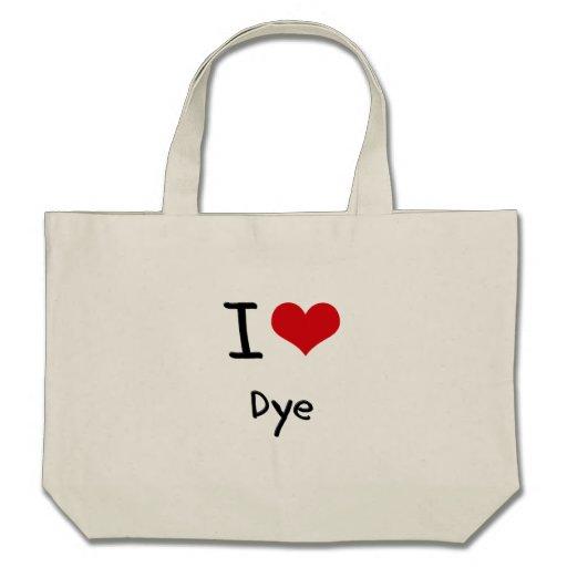 I Love Dye Canvas Bag