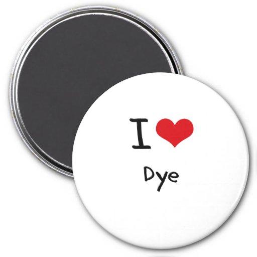 I Love Dye Refrigerator Magnets