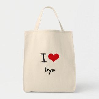 I Love Dye Grocery Tote Bag