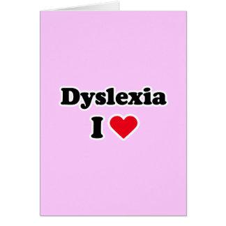 I love dyslexia card