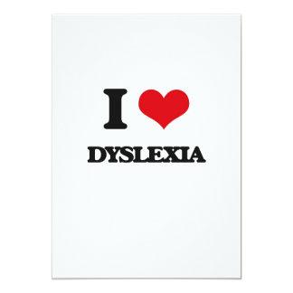 "I love Dyslexia 5"" X 7"" Invitation Card"