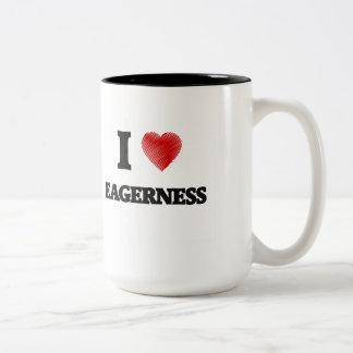I love EAGERNESS Two-Tone Mug