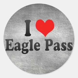 I Love Eagle Pass, United States Round Sticker