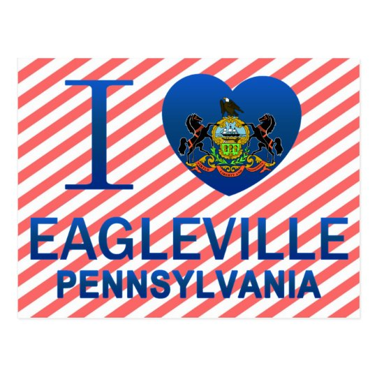 I Love Eagleville, PA Postcard