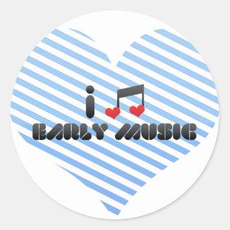 I Love Early Music Round Sticker