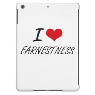 I love EARNESTNESS Cover For iPad Air
