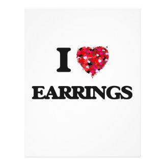 I love EARRINGS 21.5 Cm X 28 Cm Flyer