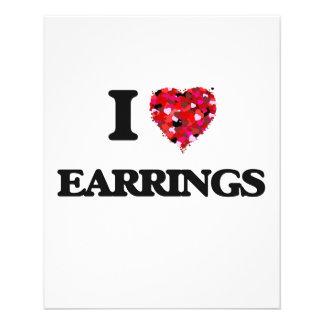 I love EARRINGS 11.5 Cm X 14 Cm Flyer