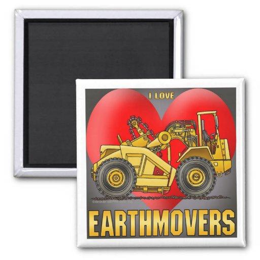 I Love Earthmover Scrapers Magnet