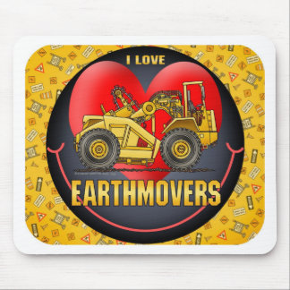 I Love Earthmover Scrapers Mouse Pad