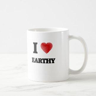 I love EARTHY Basic White Mug