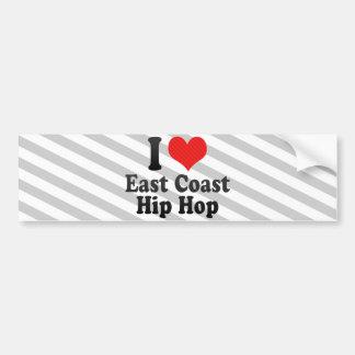 I Love East Coast+Hip Hop Bumper Stickers