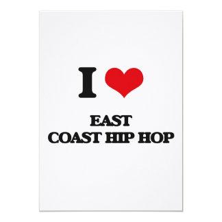 I Love EAST COAST HIP HOP Custom Invitations