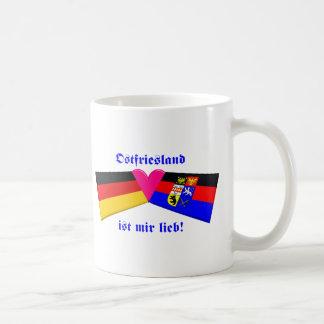 I Love East Friesland / Ostfriesland ist mir lieb Basic White Mug
