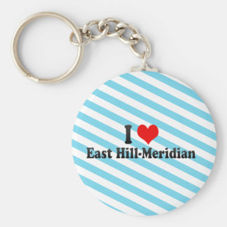 I Love East Hill-Meridian, United States Key Chain