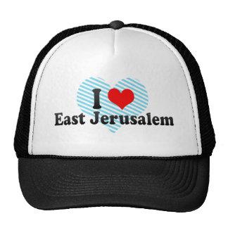 I Love East Jerusalem Palestinian Territory Mesh Hats