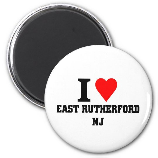 I love East Rutherford, New jersey 6 Cm Round Magnet