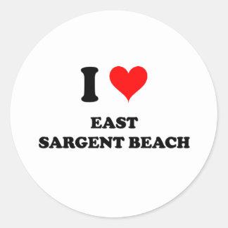 I Love East Sargent Beach Round Stickers