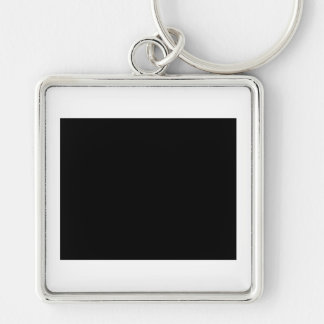 I love EAST Silver-Colored Square Key Ring