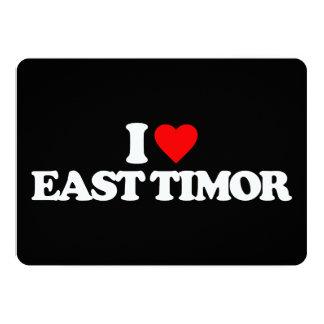 I LOVE EAST TIMOR 13 CM X 18 CM INVITATION CARD