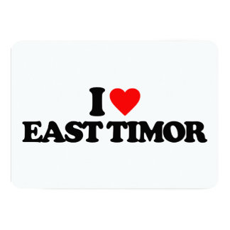 I LOVE EAST TIMOR CARDS