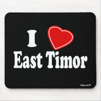 I Love East Timor Mouse Pad