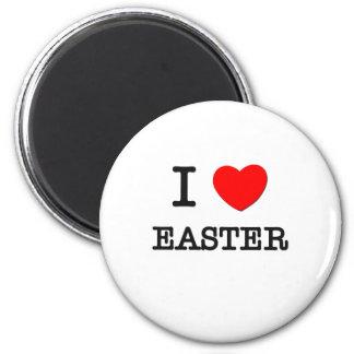 I love Easter 6 Cm Round Magnet