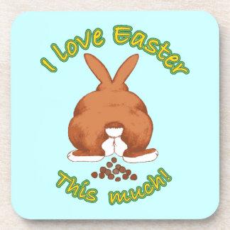 I Love Easter Beverage Coaster