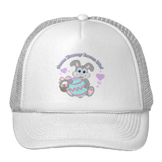 I Love Easter! Easter Bunny Mesh Hats