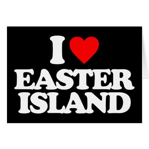 I LOVE EASTER ISLAND GREETING CARD