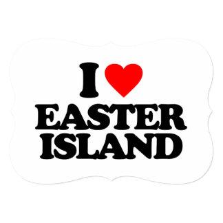 I LOVE EASTER ISLAND PERSONALIZED INVITATIONS