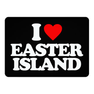 I LOVE EASTER ISLAND PERSONALIZED INVITATION CARDS