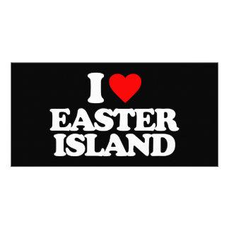 I LOVE EASTER ISLAND CUSTOM PHOTO CARD