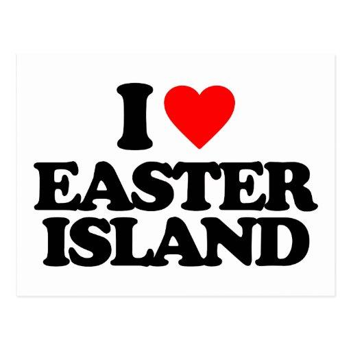 I LOVE EASTER ISLAND POSTCARD