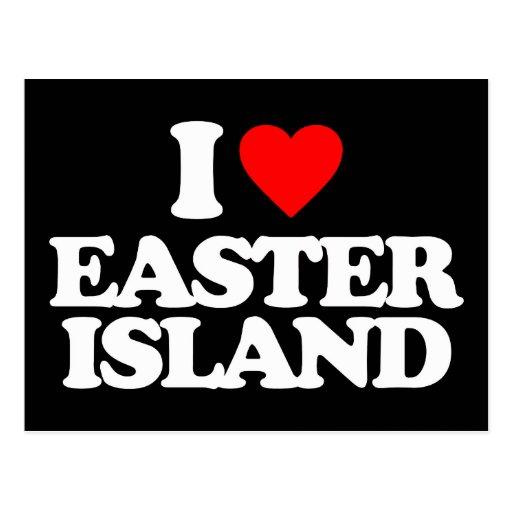 I LOVE EASTER ISLAND POSTCARDS