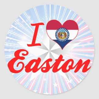 I Love Easton Missouri Round Stickers