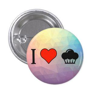 I Love Eating Cupcakes 3 Cm Round Badge